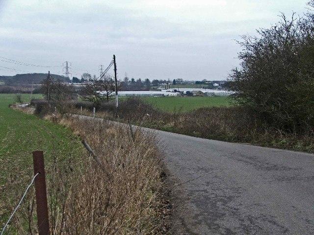 Breach Barns Lane leads from Dallance Farm to Oakwood Nursery