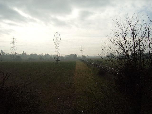 Southampton - Romsey railway line, nr Lee