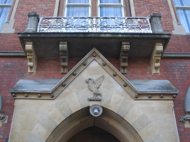 Emblem over the entrance to the Laverton