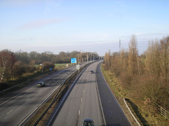 A1(M), looking North from Welham Green