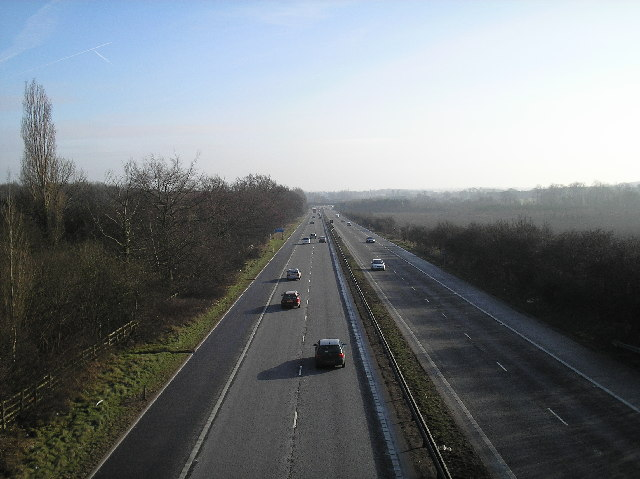 A1(M), looking south from Welham Green