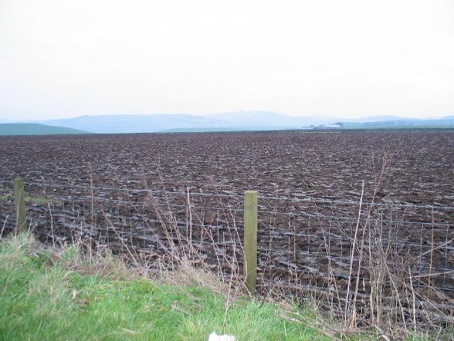 Ploughed farmland near Stewarton, Kintyre.