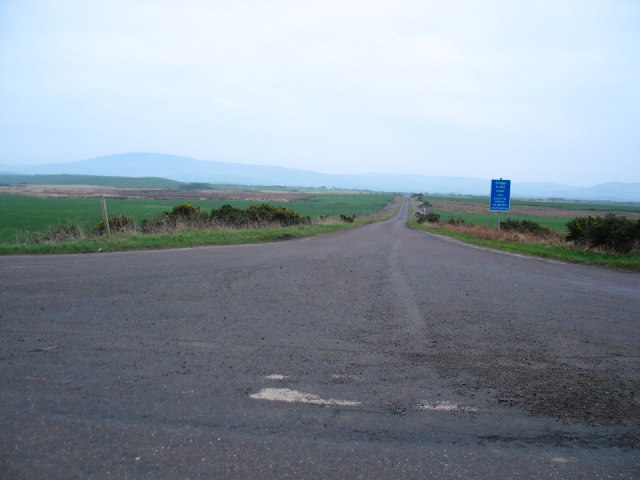 Moss Road near to Campbeltown Airport.