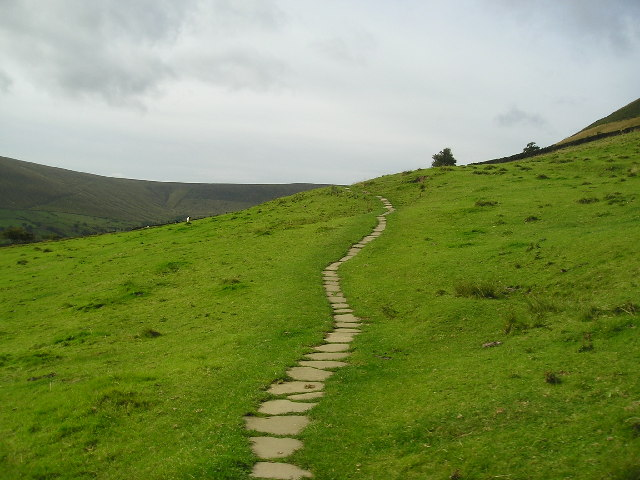 Early Steps Of The Pennine Way From Edale