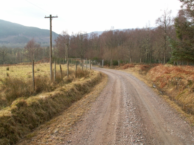 Estate road to Erchless Cottages