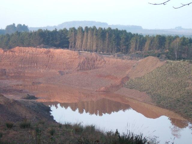 Quarry and plantation.