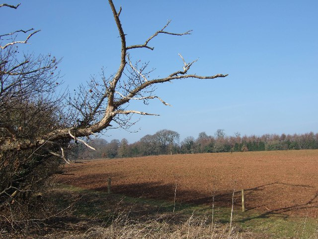 Ploughed field (Devon red clay) near Yettington