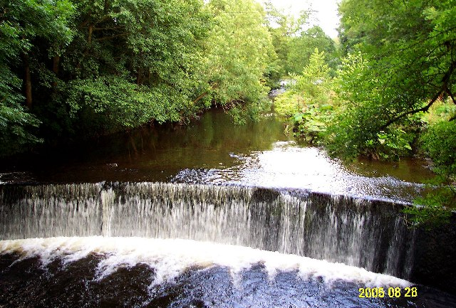 Weir on River Dane