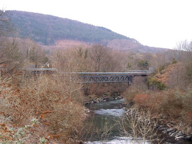 Pipe bridge by Abercynon