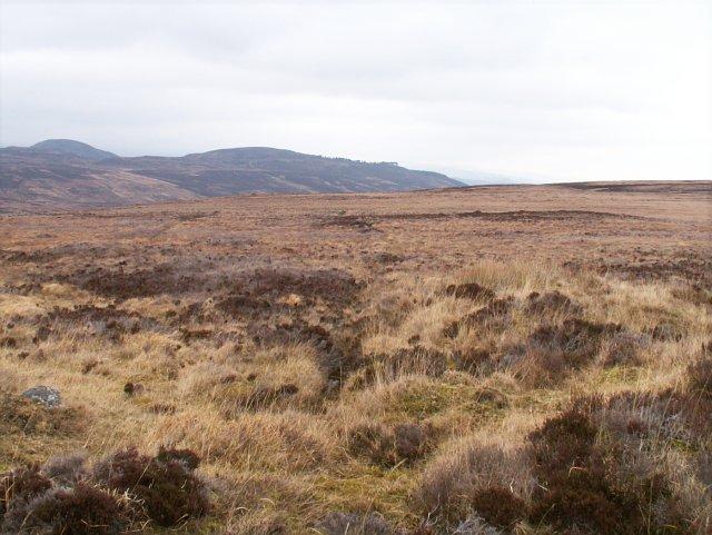 Moorland above Gleann Goibhre
