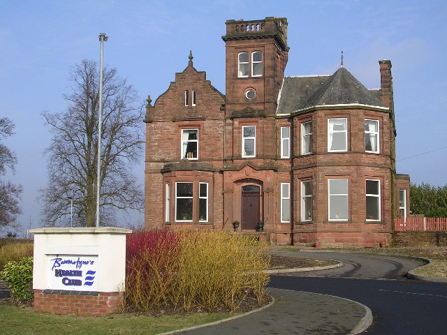 Marchfield House at the entrance to Bannatyne's Health Club, Dumfries
