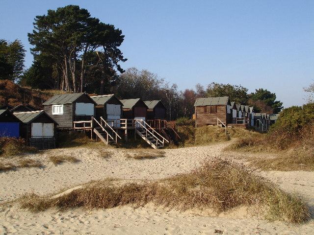 Beach Huts at Studland Bay