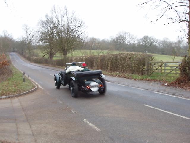 Classic car near Elstree