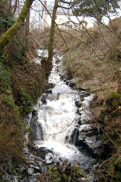 Waterfall at the top of the Gairie Burn, Kirriemuir.