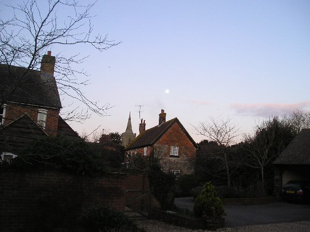 Iwerne Minster Church and the Moon