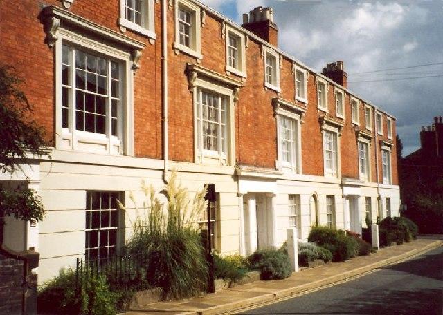 Crescent Place near Belmont, Town Walls, Shrewsbury