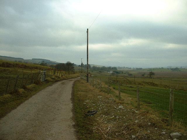 Unclassified road near Glasfryn