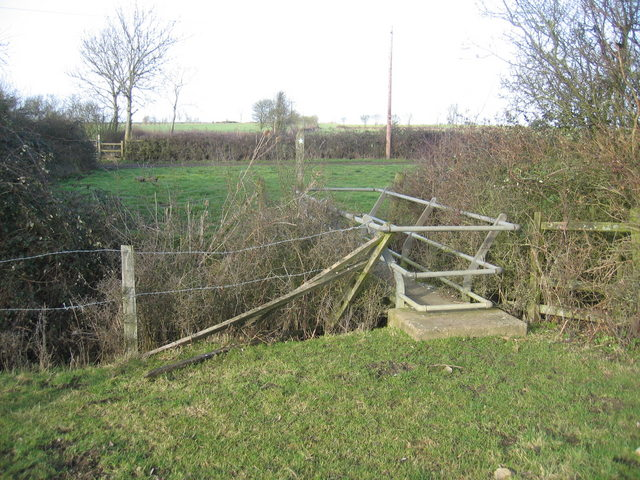 Footbridge at Ireland farm