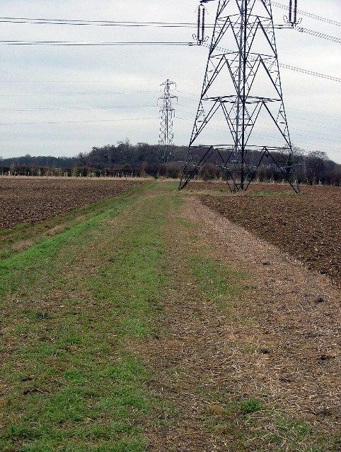 Footpath across field.