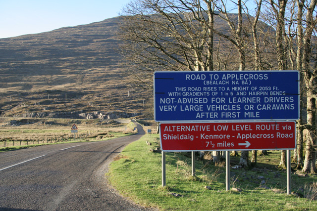 Tornapress- warnings about Bealach Na Ba road.