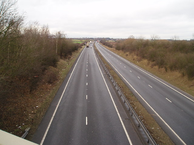 A1 Looking North, 2 mile south of Tuxford