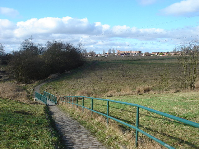 Footbridge on path between Shakerley and Atherton
