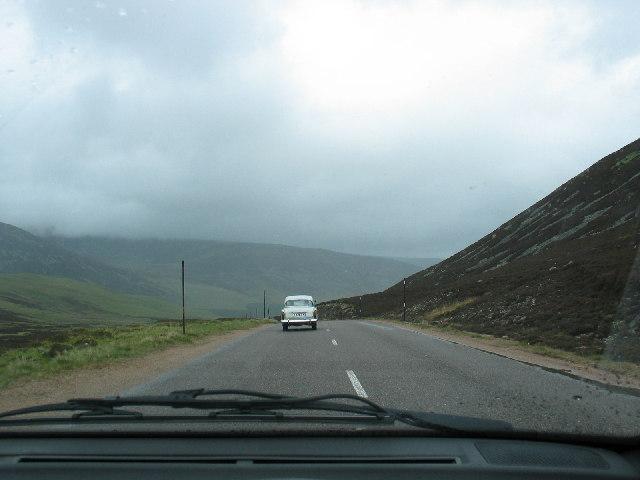 Travelling north through Glen Clunie to Braemar.