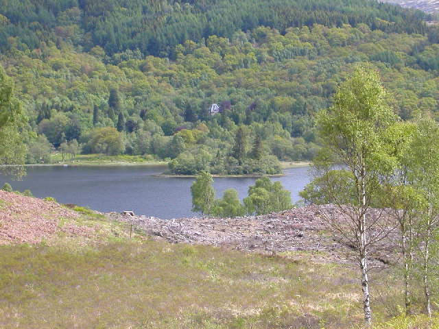 Looking towards Loch Achray, The Trossachs.