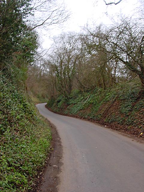 Steep winding road