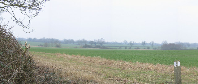 The flat farmland of Buckinghamshire