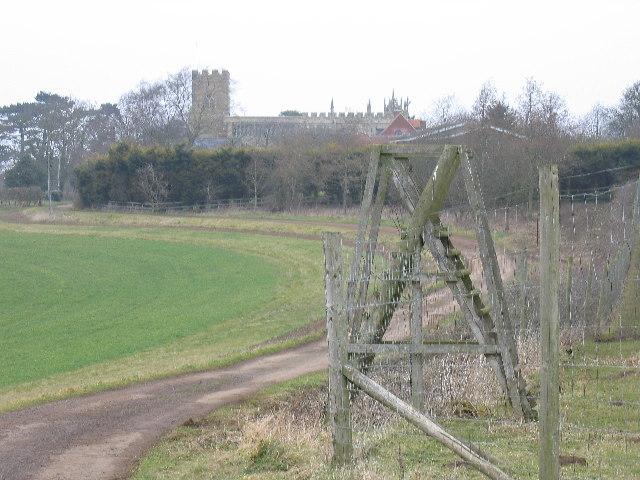 Hillesden Church with deer fence