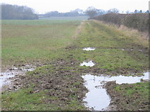 SP6830 : Muddy field by Pip Rolls