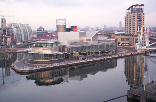 The Lowry Centre, from the Air Shard, Imperial War Museum North
