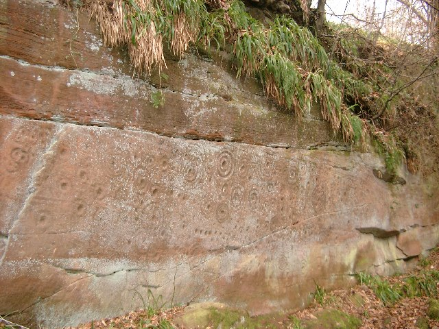 Cup and ring markings near Mauchline