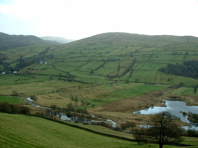 The Northern end of Kentmere Tarn and the River Kent