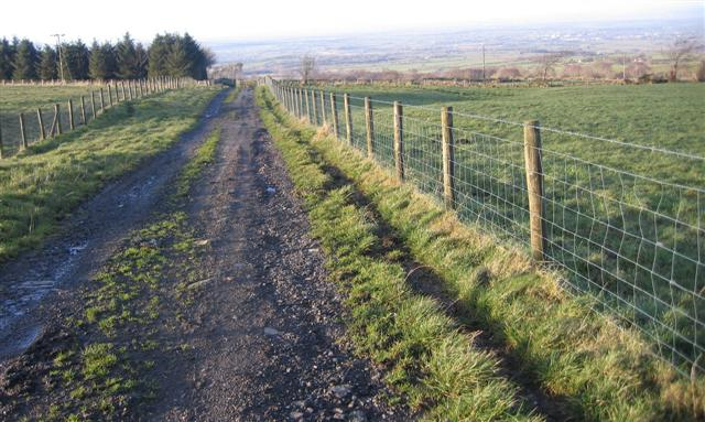Farm track and footpath.