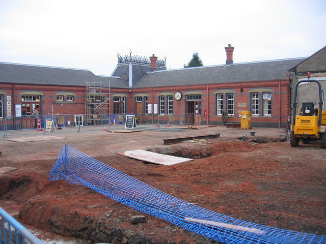 Building work at Kidderminster Town Station