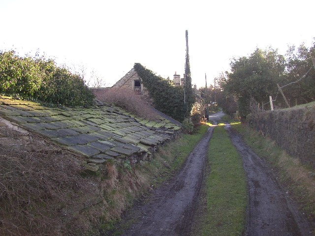 Old roof at Netherton, Farnley Tyas, Yorkshire
