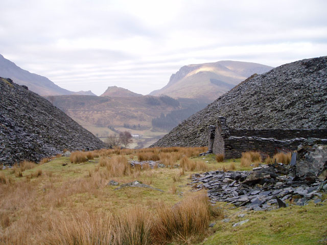 Old quarry workings near Rhyd-Ddu