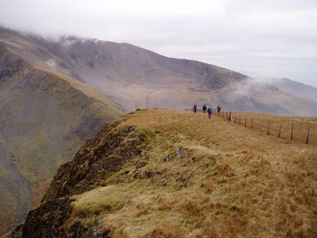South-east ridge of Moel Cynghorion