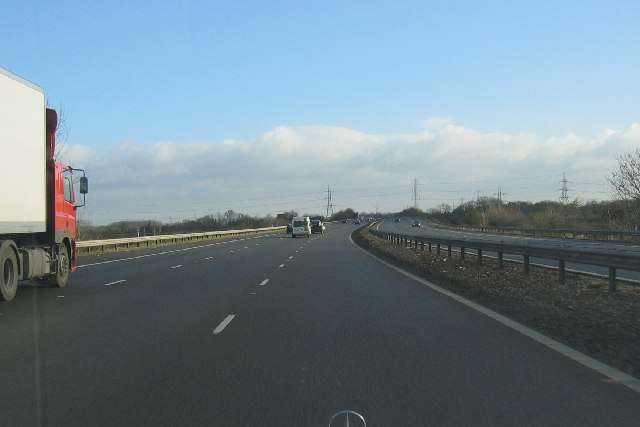 Heading East on the M69