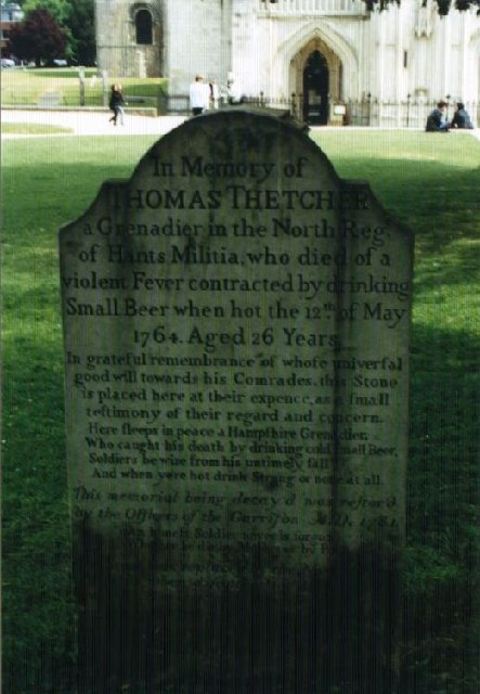 Headstone, Winchester Cathedral