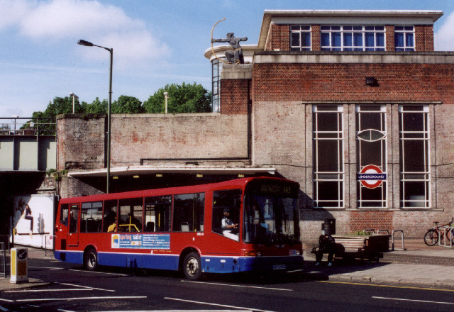 East Finchley Station and 234 Bus