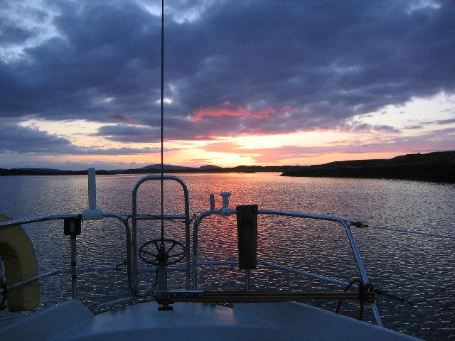 Anchorage in Loch Eyport