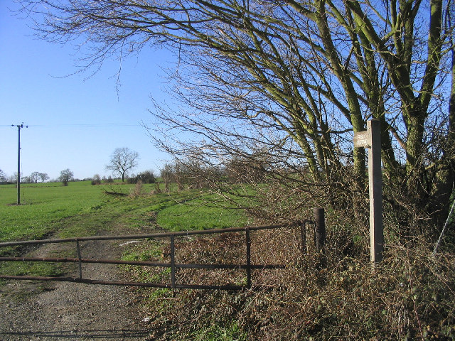 Footpath and gate