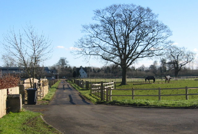 Access road near Kirkley Hall