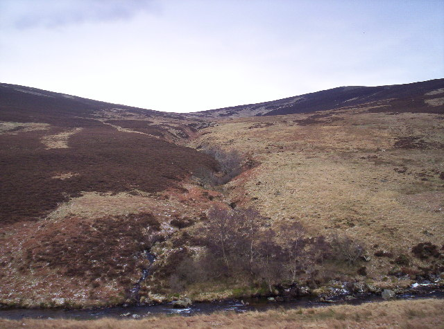 Burn Between Ordies Hill and Craig Duchrey