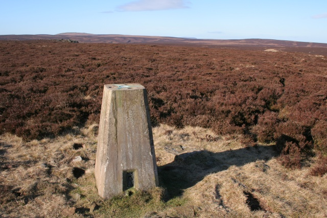 Trig point, Stanbury Moor