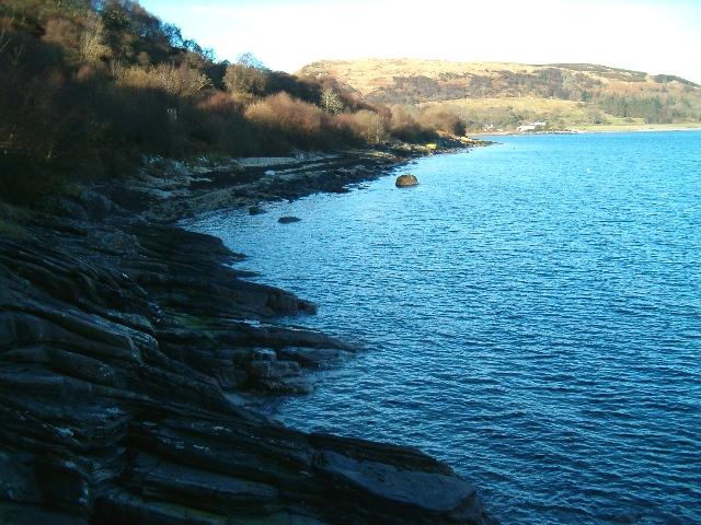 Rocky foreshore on Loch Fyne
