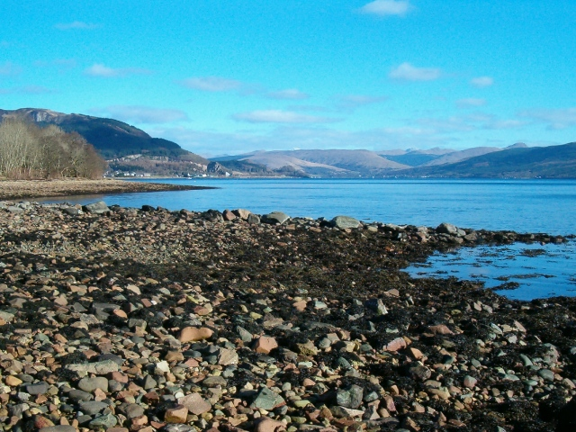The shore of Loch Fyne at Cumlodden